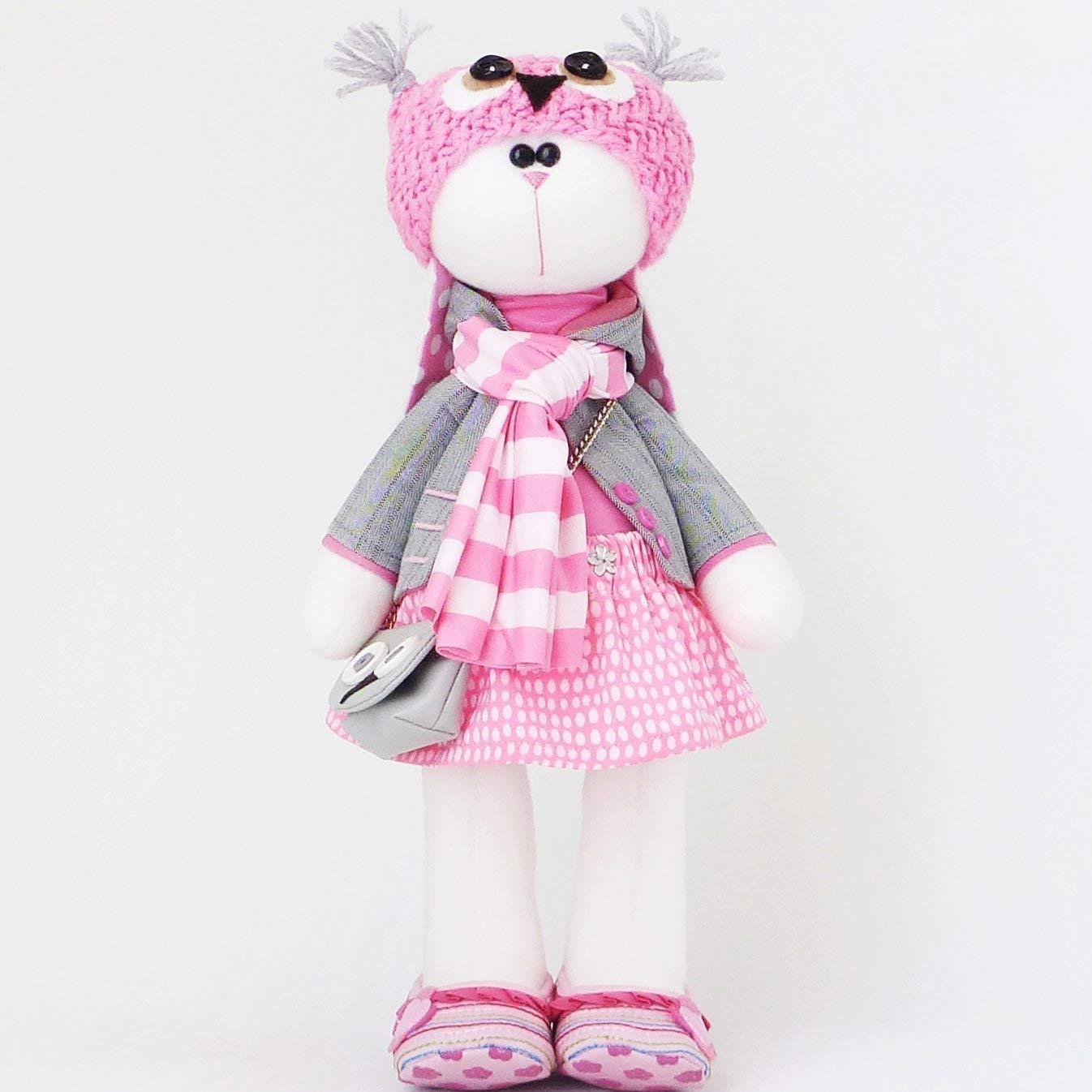 Easter bunny toy 14.5 inch handmade dolls by ZuzuHappyToys