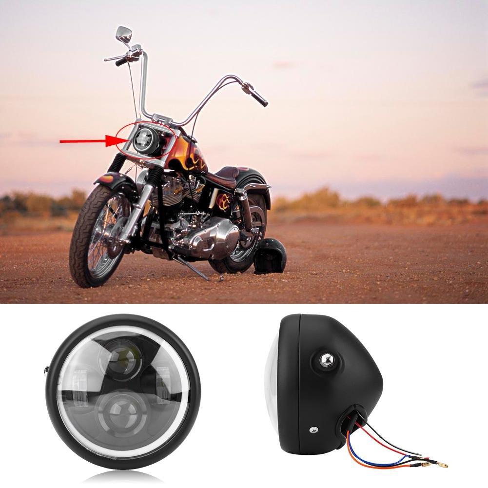 16cm//6.5 Motorcycle LED Headlight HeadLamp Bulb for Sportster Cafe Racer Bobber Motorcycle Fog Lights Headlight Lamp