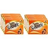 Santoor Sandal And Turmeric Soap, 100g (Pack Of 8)