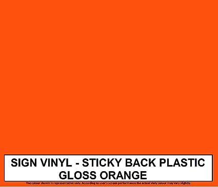 Zoom Sign Supplies - Rollo de 5 metros de vinilo autoadhesivo Este producto está disponible en 33 colores brillo o mate. Como Fablon. Para pared., color naranja: Amazon.es: Oficina y papelería