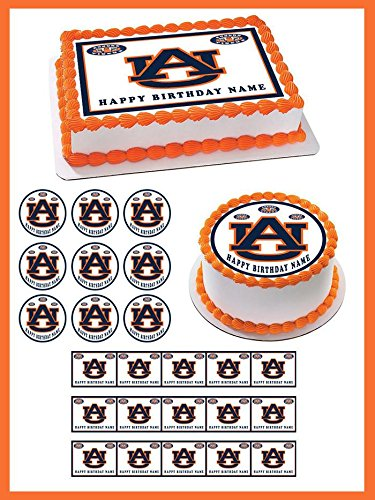 Auburn Tigers - Edible Cupcake Toppers - 1.8