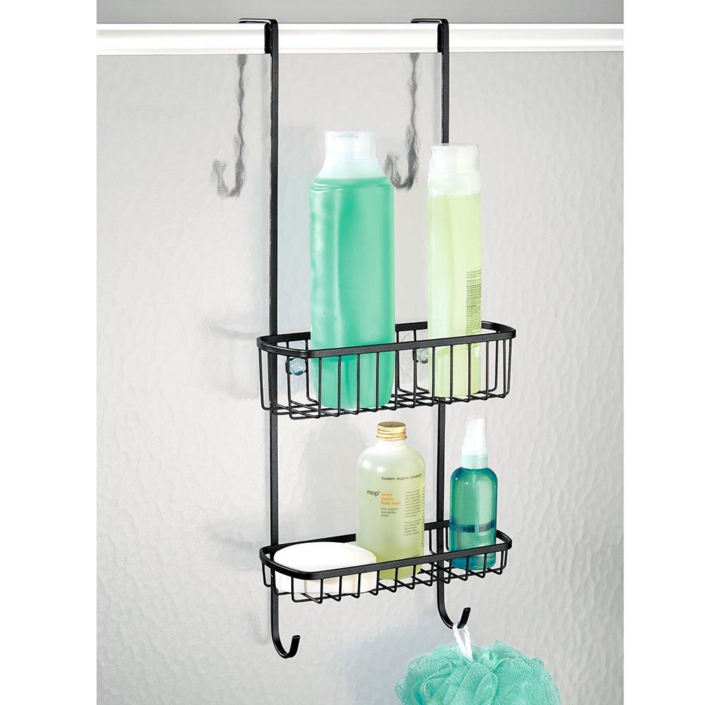 InterDesign Gia Bathroom Over Shower Door Caddy for Shampoo ...