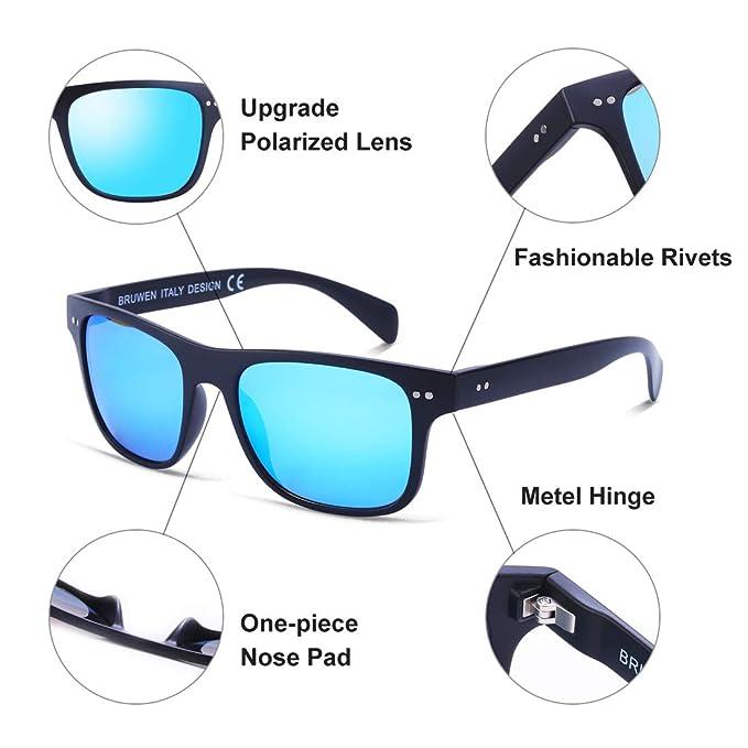 d8040d5e2c Amazon.com  BRUWEN Sunglasses for Women Men Polarized Anti Glare ...
