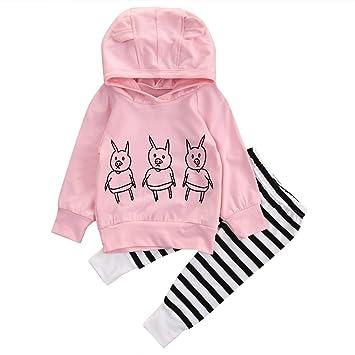 8d9a1ff8b863a ベビー服 女の子 男の子 長袖スウェット 豚ちゃん カジュアル ロングパンツ レジャー 三匹の子豚
