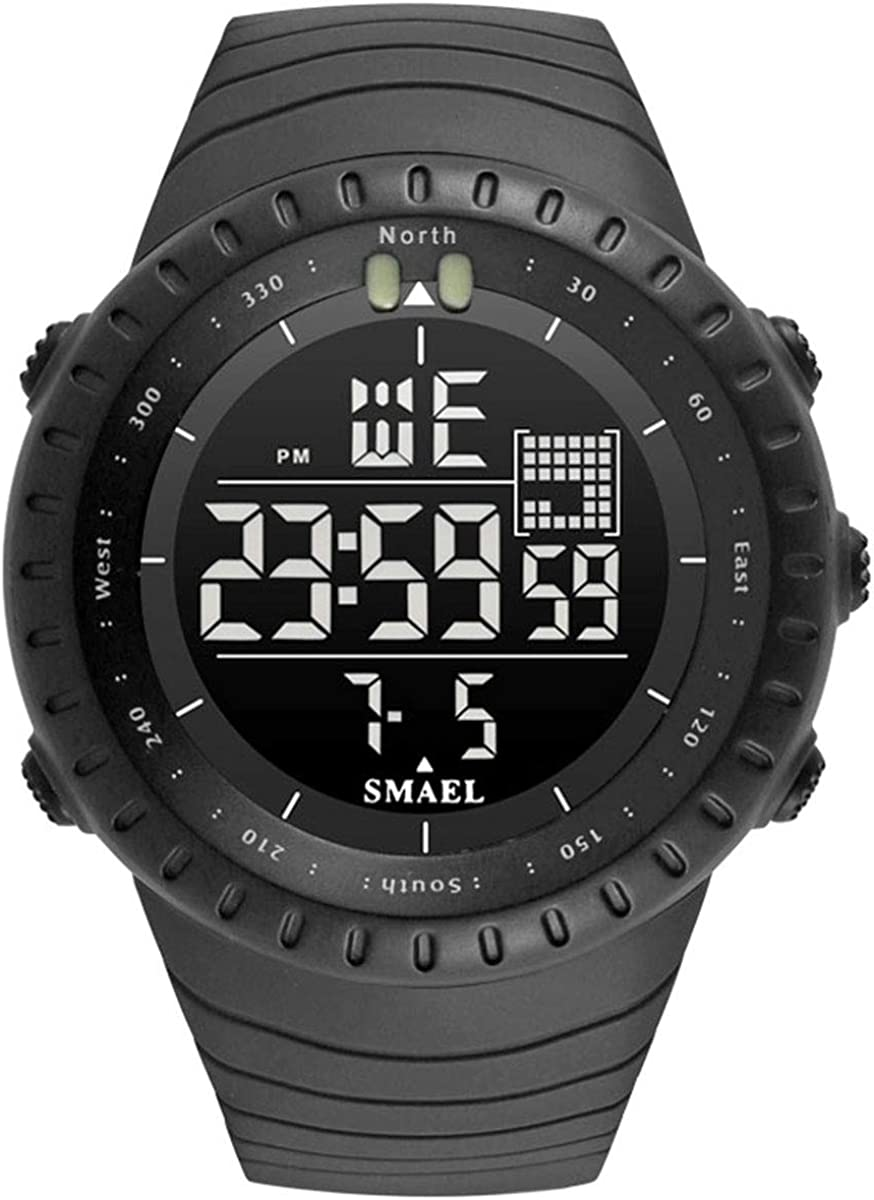 Men's Military Watches Digital Sports Watch Waterproof Tactical Watch with LED Backlight Watch