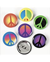 Amazon.com: Set of 10 Pinback Buttons HIPPIES 60s