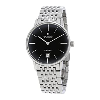 hamilton men s intra matic 38mm metal bracelet automatic watch hamilton men s intra matic 38mm metal bracelet automatic watch h38455131
