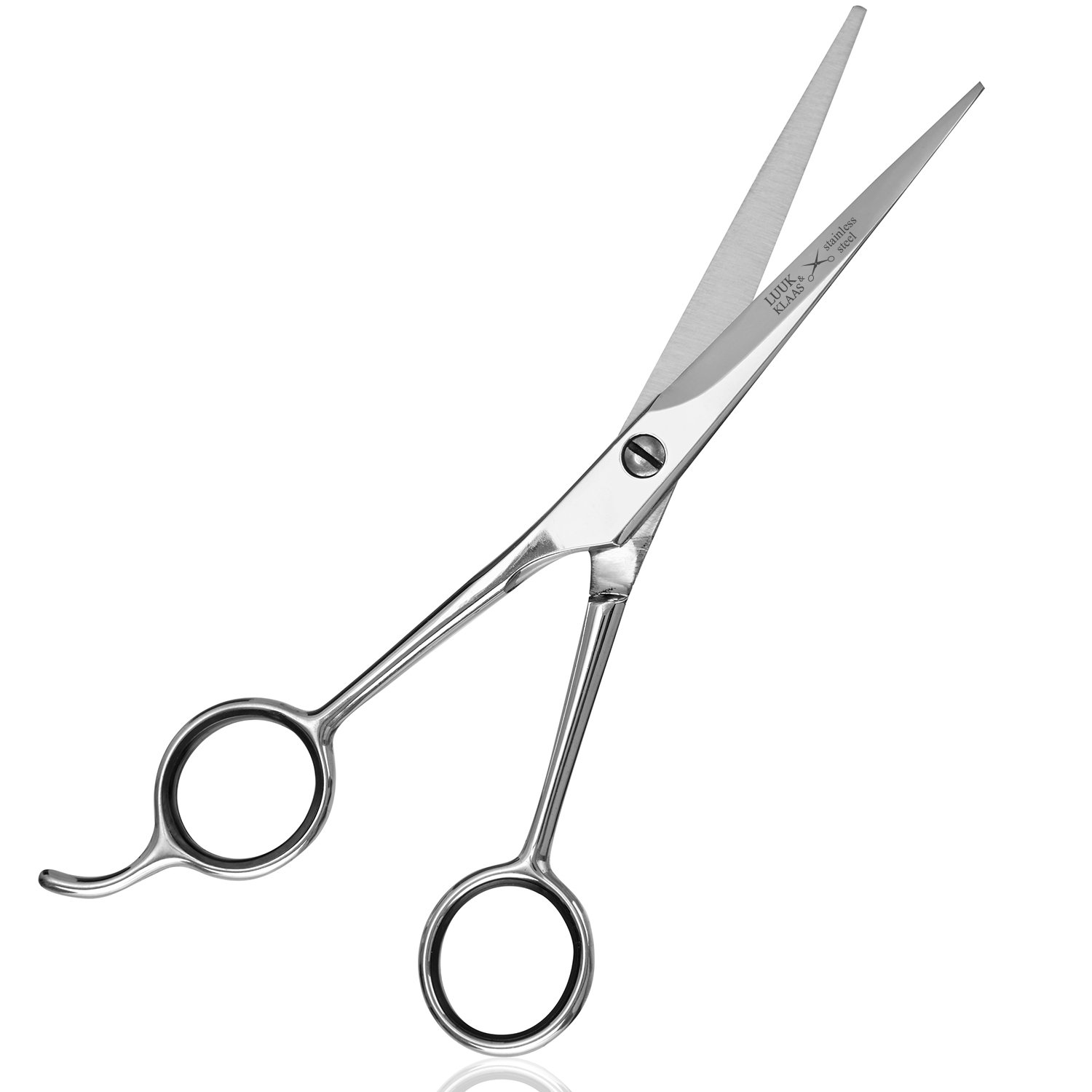 LUUK & KLAAS Professional Hairdresser Scissors made from stainless steel with single-sided micro interlocking – for a precise and sharp cut | 2 year satisfaction guarantee | professional hairdressing scissors, scissors, styling scissors, barber scissor