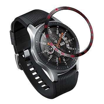 XIHAMA Bezel Compatible con Samsung Galaxy Watch 46mm / Gear S3 Frontier & Classic, Acero Inoxidable Bezel Anillo Adhesivo Protección Anti Rasguños ...