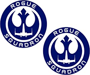 UR Impressions RBlu 3in. Rogue Squadron 2-Pack Decal Vinyl Sticker Graphics for Cars Trucks SUV Vans Walls Windows Laptop Royal Blue 3 inch URI533-RB