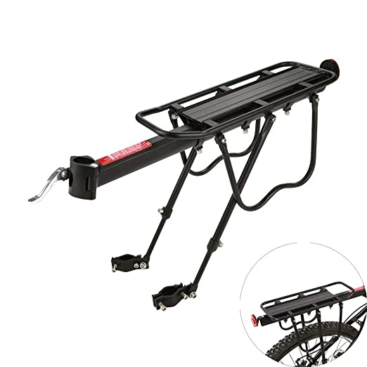 110Lbs Capacidad Rack De Carga De Equipaje De Bicicleta Ajustable