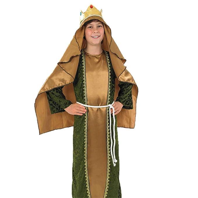 Fun Shack Oro Rey Mago Disfraz para Niños y Niñas - S: Amazon.es ...