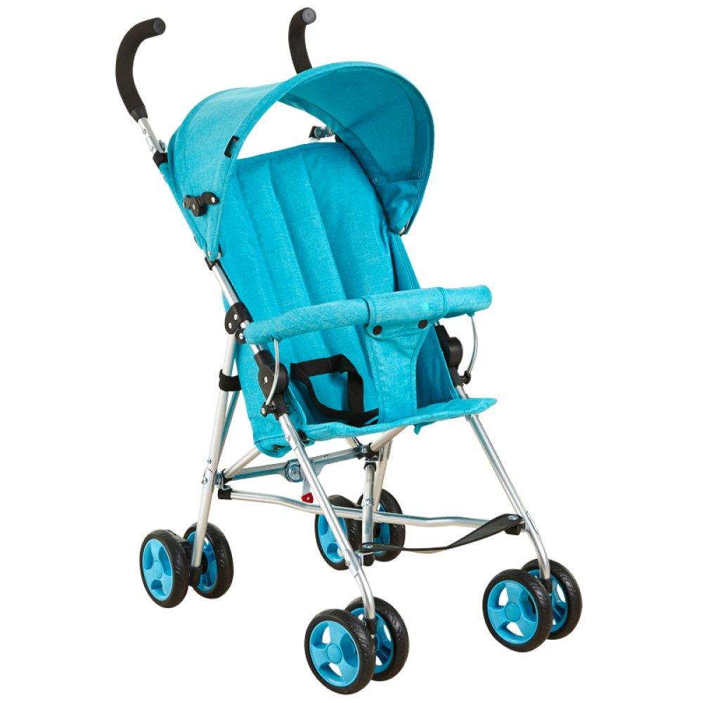 fd1b21245 QXMEI Silla De Paseo Ligera Y Compacta Cochecito De Viaje Buggy Deportivo  para Niños Coche Deportivo Muy Ligero Pequeño Plegable,Blue: Amazon.es:  Hogar