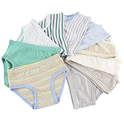Adiasen Little Unisex Boy's Girls' Underwear Briefs Comfort Cotton Stripe 4-pack