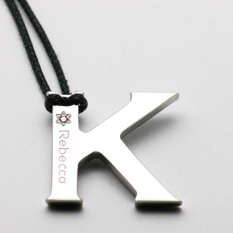Halskette REBECCA Schmuck Kollektion Alphabet Buchstabe K xwrmdd11 ...