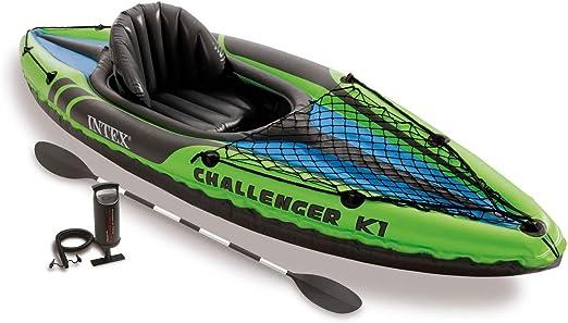 Amazon.com: Intex Challenger K1 - Kayak deportivo hinchable ...