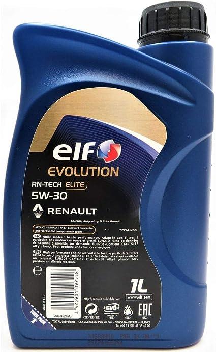 Elf 1 Liter Evolution Rn Tech Elite 5w 30 Auto