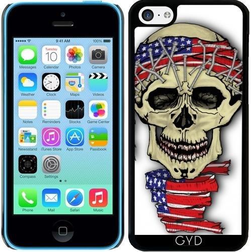 Coque pour Iphone 5c - Crâne Amérique by WonderfulDreamPicture