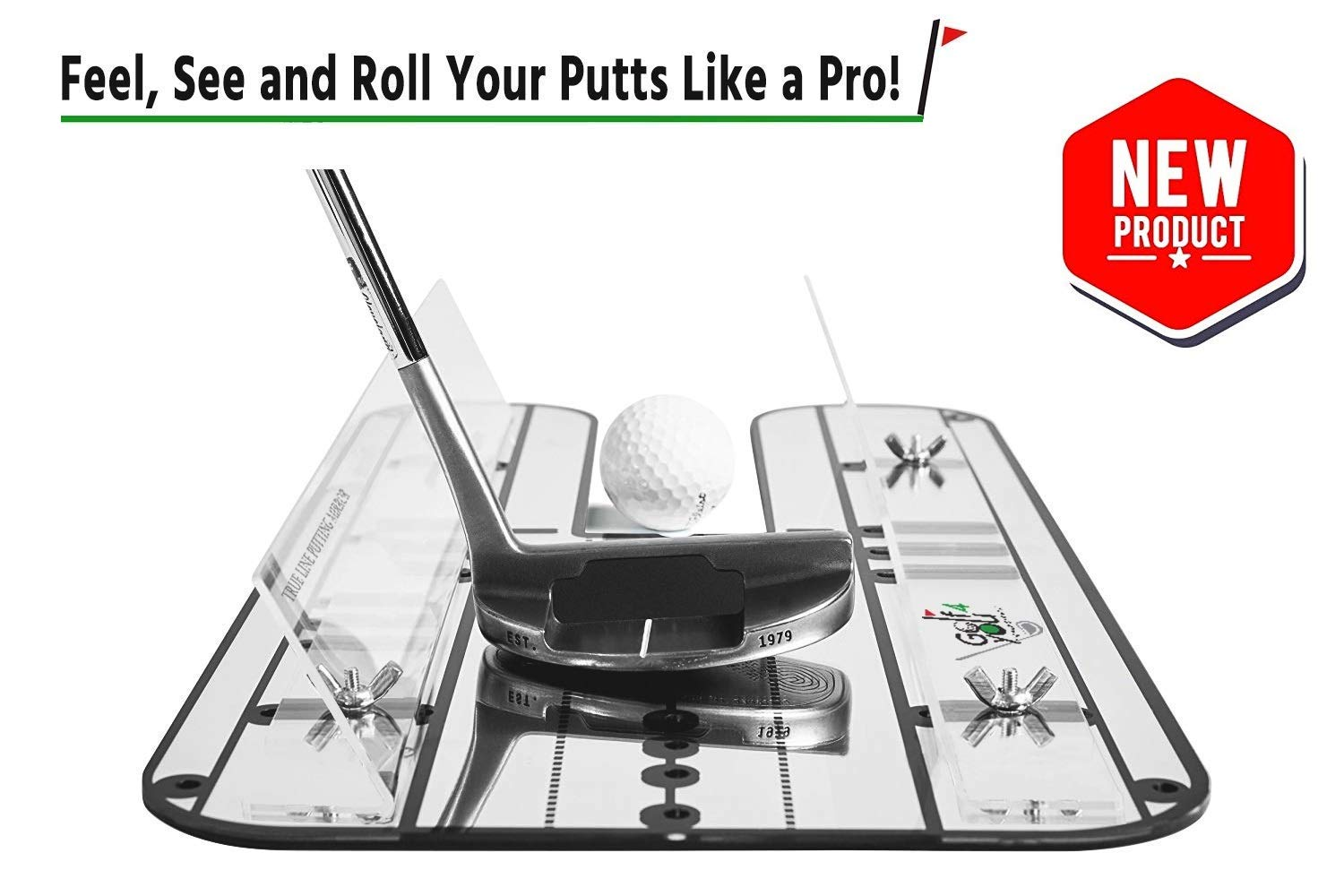 Premium Golf Alignment Putting Mirror   All in One Putting Set - Golf Training Aids to Improve Your Putting Setup. Visualize Eye, Shoulder, Putter Face Angle and Your Putter Path by GOLF4 YOU THE WORLD OF GOLF
