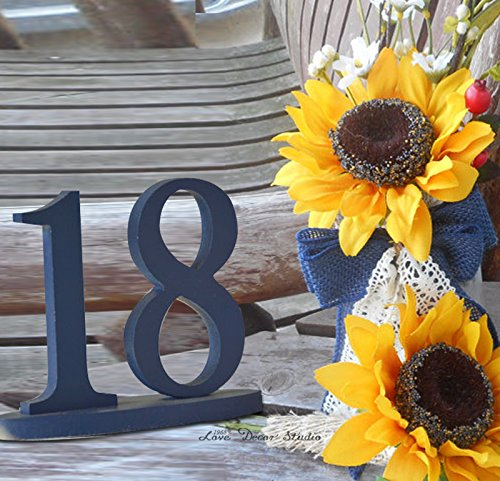 Dark blue DIY Table numbers Table Numbers for Wedding Table Wedding Table Decor Wedding decorative letters (5 inches 1-25 Number)