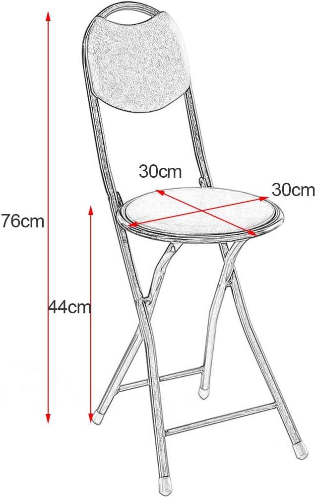 Tabouret De Bar Pliant Simple Chaise De Bar Chaise Haute Tabouret Pliant Dinant La Chaise Portable Épaississement Adulte Chaise Maison-18 Pouces-3 Couleur Blak