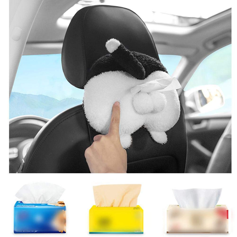 Ntribut Car Tissue Box Cute Carton Plush Tissue Holder Set,Made By Flannel Fabric//With Hanging Strap Design//Durable And Comfortable valuable