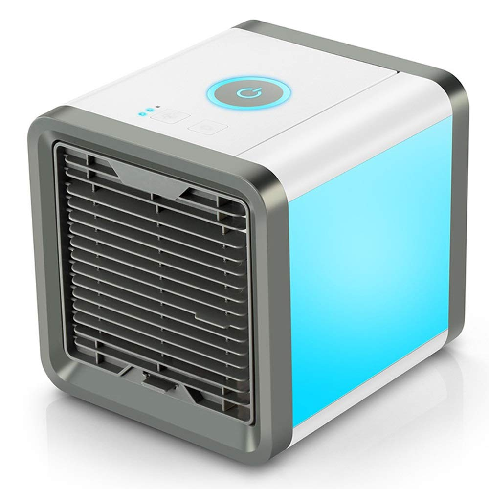 Personal Air Conditioner, Mini Portable Air Cooler,USB Personal Space Air Cooler Humidifier Purifier, White (Color : White) by TJG