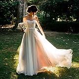 Lava-ring Womens New Fancy Bohemian Lace Bridal Gown A-Line Beach Lawn Wedding Dress