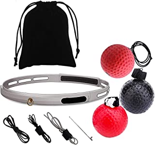 Alftek Box Punch Ballon d'exercice avec Bandeau pour entraînement de Boxe Reflex Speed