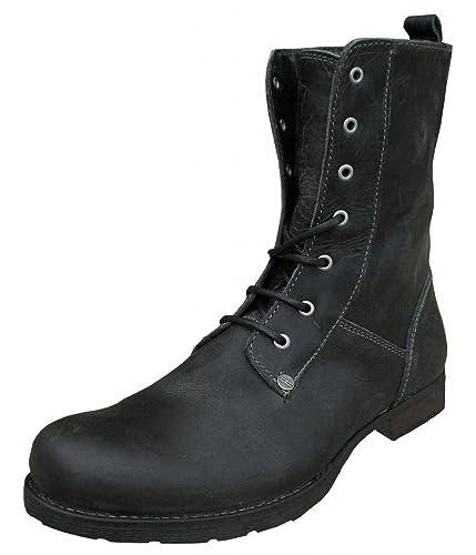 7d55a7e545ba Henleys Scholar Men s Leather Vintage Weathered Military Fashion Boots  black UK 6