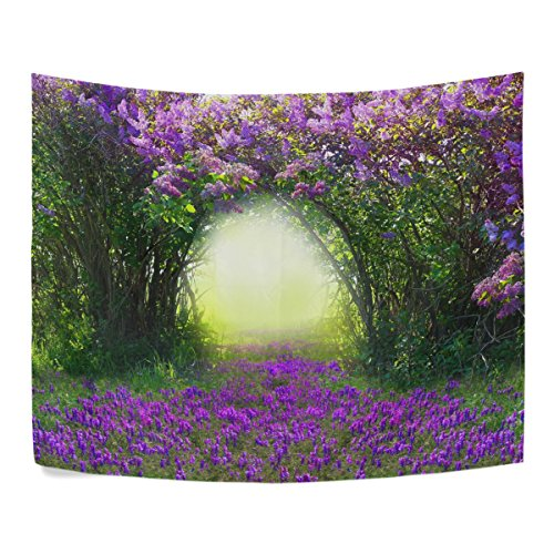 Magic Spring Forest Purple Floral Flower Polyester House Decor