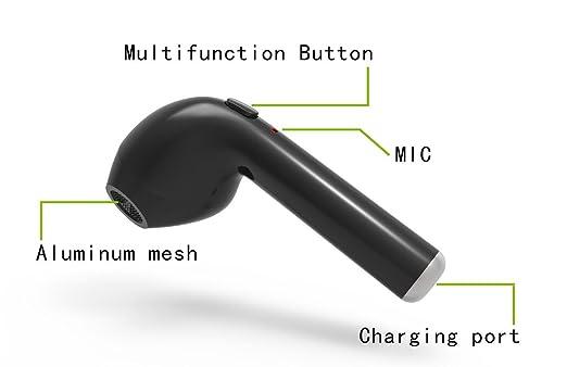 gzmy Mini inalámbrico in-ear auricular auriculares Head teléfono para Apple Iphone 7 7 Plus 6S 6S Plus y Samsung Galaxy S7 S8 y teléfonos Android, ...