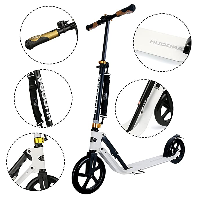 Amazon.com: HUDORA 230 - Patinete de ruedas grandes: Sports ...
