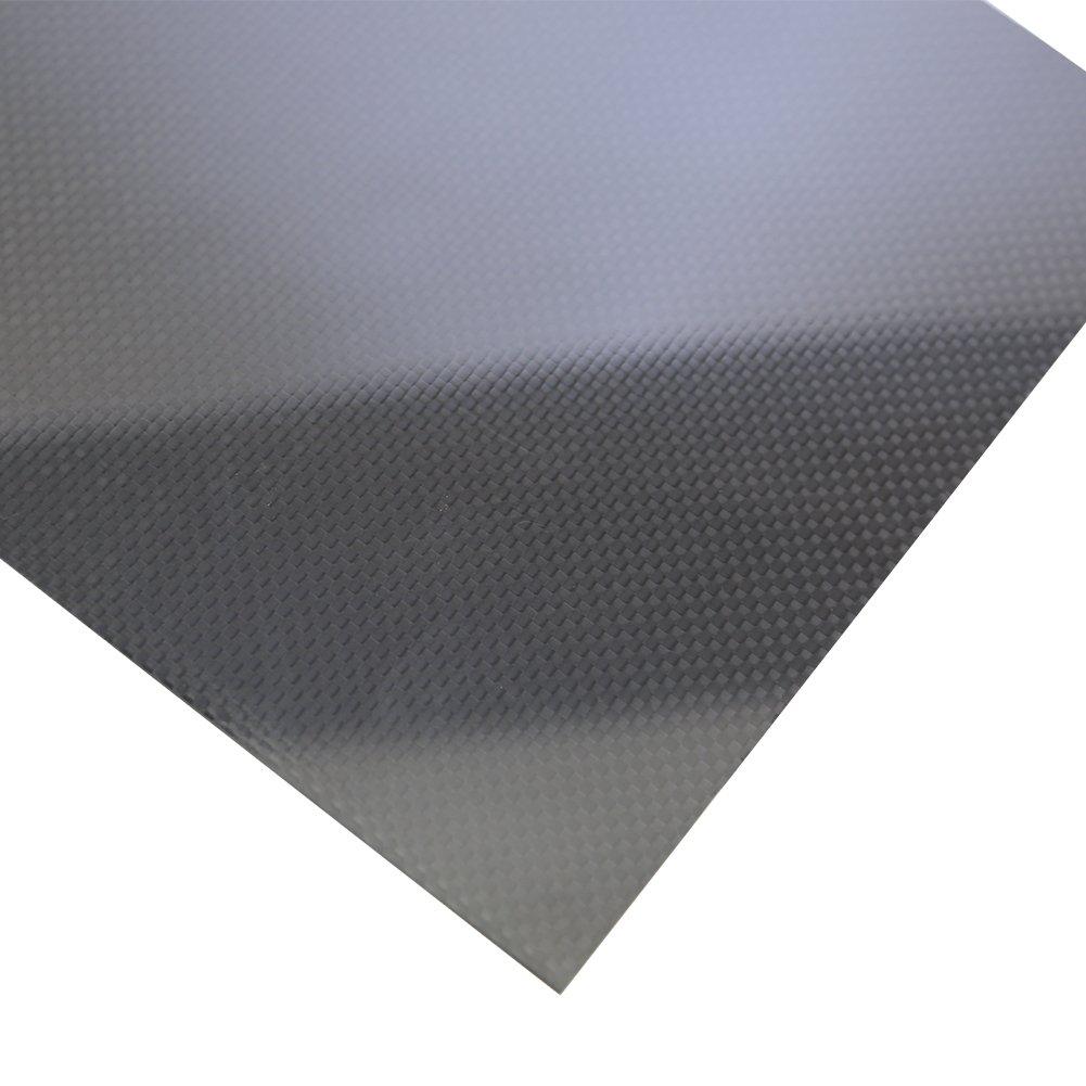 SHINA 1Pc 400 x 500 x 1 mm 3K 100% Carbon Fiber Plate Panel Sheet 1 mm Thickness Glossy Surface 1XTXWP-LM-1mm-400x500