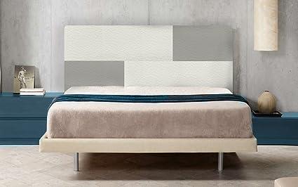 SUENOSZZZ Cabecero Diseo Tokio Color BlancoPlata Camas 135150