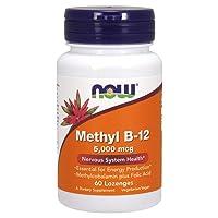 NOW Supplements, Methyl B-12 (Methylcobalamin) 5,000 mcg, Nervous System Health*...