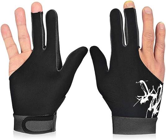 Liamostee 1 Unids 3 Dedos Snooker Billar Guante Transpirable Derecha Izquierda Mano Cue Deportes: Amazon.es: Hogar