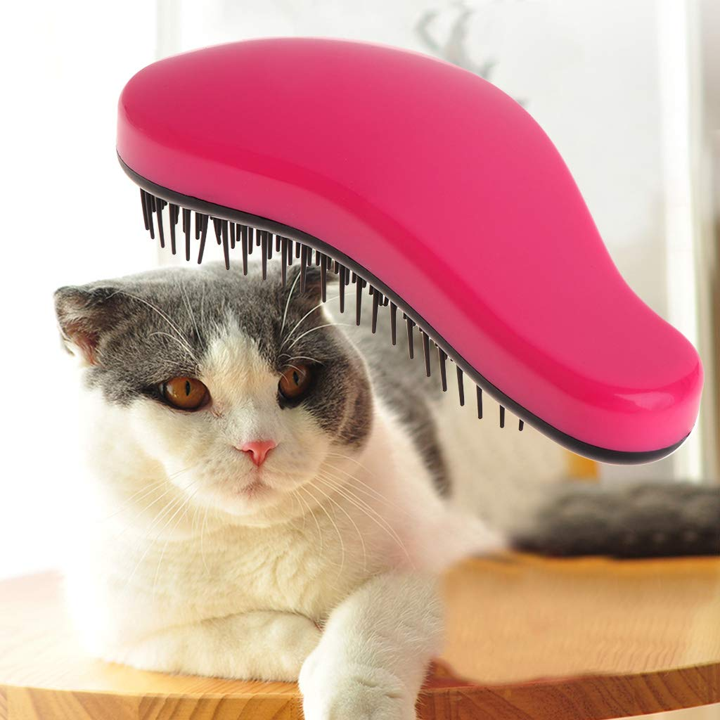 Blue XMTPF Pet Grooming Comb Shedding Hair Removal Tool Brush Massage Dog Cat Puppy Supply