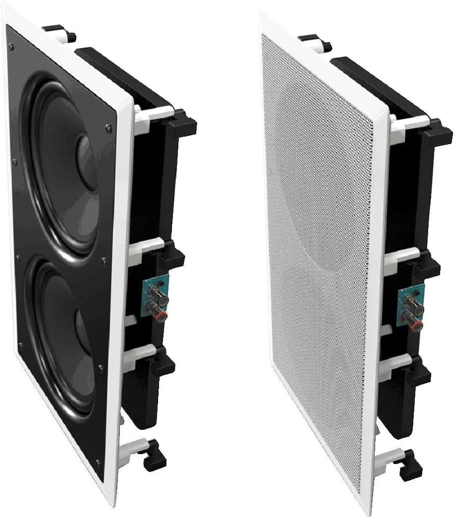 """OSD Audio 350W In-Wall Home Theater Subwoofer – 8"""" Woofers, Back Bridge - IWS88"""