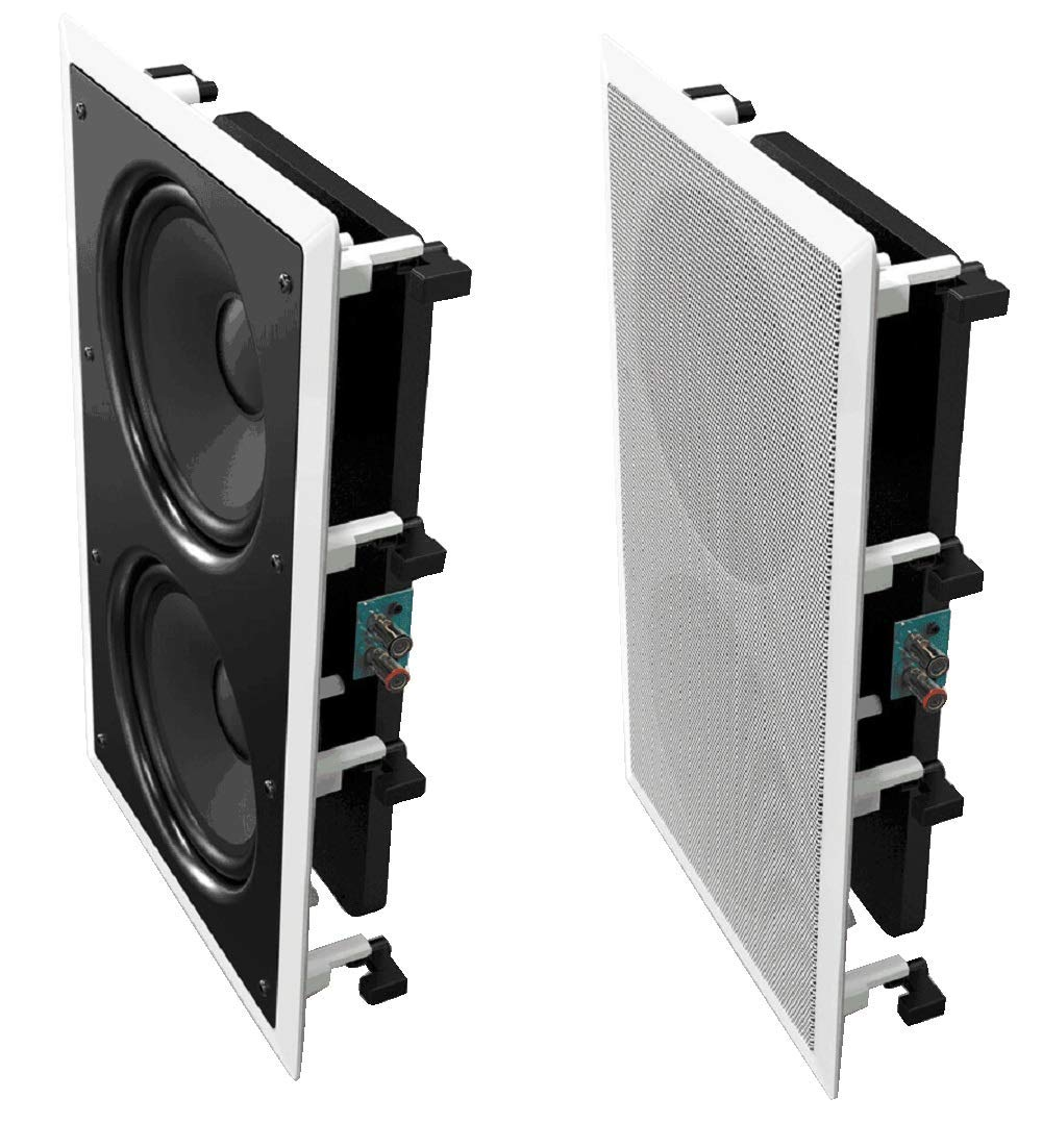 OSD Audio IWS-88 Dual 8-Inch Polypropylene 240-Watt Passive Home Theater In-Wall Subwoofer