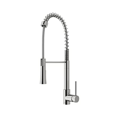VIGO Laurelton Single Handle Pull-Down Spray Kitchen Faucet, Stainless Steel