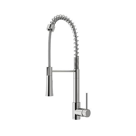 VIGO Laurelton Single Handle Pull Down Spray Kitchen Faucet, Stainless Steel