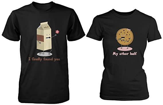 18ff831a3c Cute Matching Couple Shirts - Milk and Chocolate Chip -Gifts for Couples
