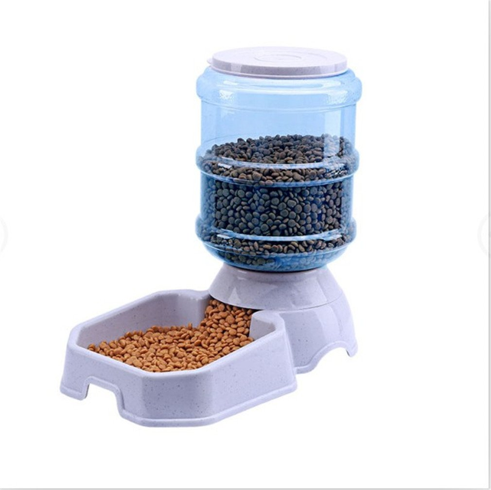 LVSEHUIYI 3.8L Pet Automatic Feeder Dog Cat Water Drinking Cat Cat Feeding Large Capacity Dispenser Pet Cat Bowl Dog Square