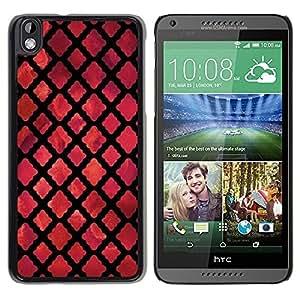 FECELL CITY // Duro Aluminio Pegatina PC Caso decorativo Funda Carcasa de Protección para HTC DESIRE 816 // God Church Dark Red Black