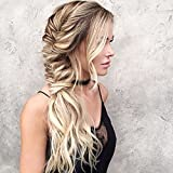 Moresoo 20inch Blonde Hair Extensions Real Human Hair Tape in 20pcs/50g Per Package Remy Hair Extensions Glue in Balayage #6 Brown to Blonde #60