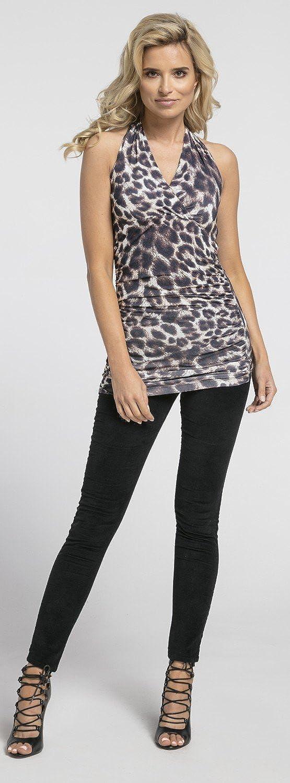 Glamour Empire Femme Top T-shirt /à sans manches Col V Pr/ès du corps 167