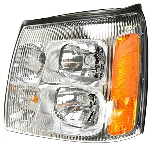 Headlamp Headlight Driver Side Left LH for 02 Cadillac Escalade Pickup Truck EXT