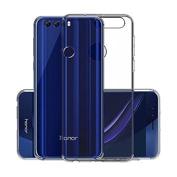 Funda Honor 8, CANWN Suave Carcasa Gel Honor 8 Ultra Transparente Silicona Funda para Huawei Honor 8
