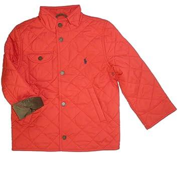 da69bb58fa510 Ralph Lauren Enfant Garçon Veste matelassée veste rouge 116  Amazon ...
